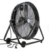 "XtremepowerUS High Velocity Rolling Drum Shop Adjustable Speed Knob 24"" Blower Fan in Black, Size 24.0 H x 28.0 W x 16.5 D in   Wayfair 92000"