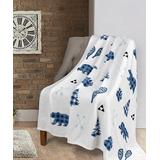 Safdie & Co. Inc. Throws multi - Blue & White Signature Lodge Ribbed Flannel Throw