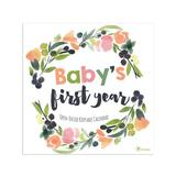 TF Publishing Calendars Multi - Baby's First Year Floral 2020 Wall Calendar