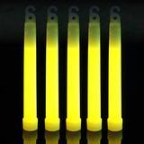 100 Yellow 6 inch Glow Sticks Bulk Pack | Long Lasting 8-12 Hours Bright Chemical Lights | Industrial Grade Emergency Light Sticks | Certified Safe for Kids Halloween GlowSticks