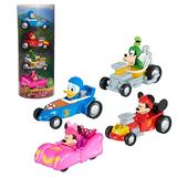 Mickey Mouse Disney Junior Diecast Cars 4-Piece Set, Toy Vehicles, by Just Play