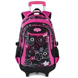 Rolling Backpack for Girls, Fanspack Wheeled Backpack for Girls Backpack with Wheels Rolling Backpack for School