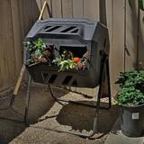 Barton Bins Garden Easy Turn System Rotating Barrel 37 Gal. Tumbler Composter Plastic in Black, Size 36.0 H x 28.0 W x 26.0 D in | Wayfair 95128