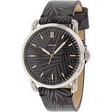 Fossil Men's Commuter FS5545 Silver Leather Japanese Quartz Fashion Watch