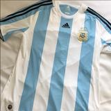 Adidas Shirts   Argentina Mens National Soccer Jersey   Color: Blue/White   Size: Xl
