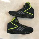 Adidas Shoes | Adidas Boys Basketball Shoes Black Neon Green 5.5 | Color: Black | Size: 5.5bb