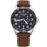 Victorinox Swiss Army 241854 Fieldforce Chrono Men's Watch Brown Leather