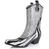 Women's Nature Breeze Cb-01 Animal Blk/Wht Zebra Leopard Print Rain Boot Shoes, Leopard, 6,6 B(M) US