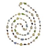My Gems Rock! Women's Necklaces Multi-colored - Cultured Pearl & Garnet Beaded Wire Station Necklace
