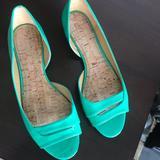 Nine West Shoes | Nine West Flat Sandals | Color: Green | Size: 7.5