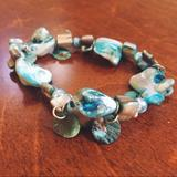 Urban Outfitters Jewelry   Aquamarine Blue Stone Bracelet   Color: Blue   Size: Os
