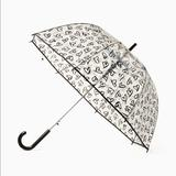 Kate Spade Accessories   Kate Spade Lipstick Hearts Bubble Umbrella   Color: Black/White   Size: Os
