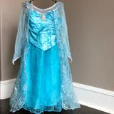 Disney Costumes | Disney Elsa Gown. Authentic Disney Park Original. | Color: Blue/Silver | Size: 7-8