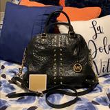 Michael Kors Bags | Authentic Uptown Astor Studded Black Satchel | Color: Black | Size: 14.25l X 5w X 10h