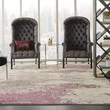 """Nourison Sublime Modern Abstract Area Rug 6'7"""" x 9'7"""" (7x10) Ivory/Pink, 6 Feet 7 Inch x 9 Feet 7 Inch, 9 Feet"""