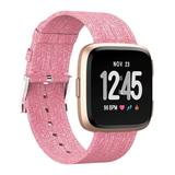 Tech Zebra Replacement Bands Pink - Pink Canvas Band for Fitbit Versa