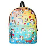 Chiclinco Kids Rainbow Unicorn Backpack Back to School Back Pack for Little Girls Age 5-12 Years Old (Blue)