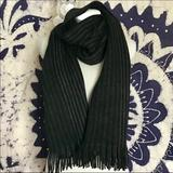 Michael Kors Accessories | Michael Kors Two Color Marl Stripe Muffler Scarf | Color: Black/Gray | Size: Os
