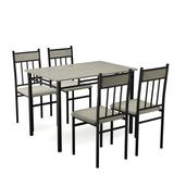 Costway 5 Piece Faux Marble Dining Set Table