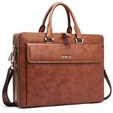 Cluci Women Leather Briefcases Slim Large Business 15.6 Inch Laptop Vintage Shoulder Bag for Men