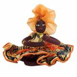 Cotton doll, 'African Mother in Persimmon'