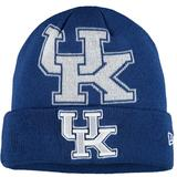 Youth New Era Royal Kentucky Wildcats Logo Whiz Cuffed Knit Hat