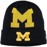 Youth New Era Navy Michigan Wolverines Logo Whiz Cuffed Knit Hat