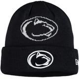 Youth New Era Navy Penn State Nittany Lions Logo Whiz Cuffed Knit Hat