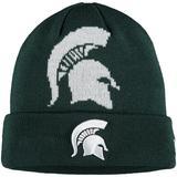 Youth New Era Green Michigan State Spartans Logo Whiz Cuffed Knit Hat
