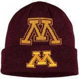 Youth New Era Maroon Minnesota Golden Gophers Logo Whiz Cuffed Knit Hat