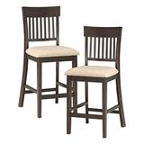 Lexicon Lath Back Counter Height) Chair (Set of 2), Brown