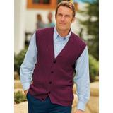 Men's John Blair Cable-Front Vest, Wine Red XL Regular