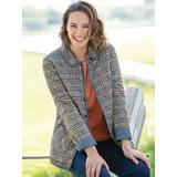 Women's Petite Reversible Plaid Quilted-Cotton Jacket, Multi P-S