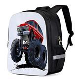 Fashion Elementary Student School Bags- Cartoon Monster Truck Durable School Backpacks Outdoor Daypack Travel Packback for Kids Boys Girls