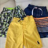 Polo By Ralph Lauren Swim | 3 Boys Bathing Suits | Color: Blue/Gray/Green/Orange/Yellow | Size: Mb