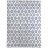 House of Hampton® Langston Ivory/Blue Rug Polyester in Blue/Brown, Size 144.0 H x 108.0 W x 0.08 D in | Wayfair FD9DEAB16683447983DCCF7B1B8E95F0