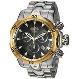 Invicta Men's Venom Quartz Watch with Stainless Steel Strap, Silver, 26.3 (Model: 29645)