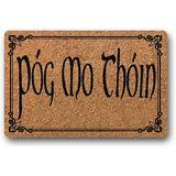 """BXBCASEHOMEMAT Pog Moin Thoin Doormat, St. Patricks Day Decor, Customized Doormat, Irish Doormat, Celtic, Welcome Mat, New Homeowner Gift, St. Paddys Day 23.6"""" x 15.7"""""""