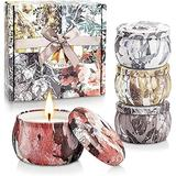 Scented Candles Set for Women Portable Candles Travel Tin Fragrance Gift for Mother Day Birthday Valentine Day Weddings Soy Candle Long Lasting Aromatherapy Candles for Home Fragrances Decor