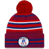 Men's New Era Red/Royal England Patriots 2019 NFL Sideline Home Reverse Sport Knit Hat
