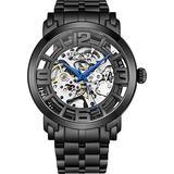 Stuhrling Original Skeleton Watches for Men - Mens Automatic Watch Self Winding Mens Dress Watch - Mens Winchester 44 Elite Watch Mechanical Watch for Men (Black)
