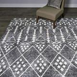 Gertmenian Modern Abstract Contemporary High-Low Area Rug, 8x10 Large, Gray Moroccan Bohemian