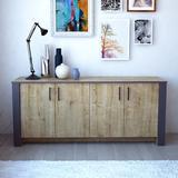 Union Rustic Halley Sideboard Wood in Brown/Gray, Size 30.0 H x 71.0 W x 18.0 D in   Wayfair 9856D2CEB03446DB864EED2955B94BDE
