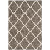 Hudson Shag Collection 6' X 9' Rug in Grey And Ivory - Safavieh SGH283B-6