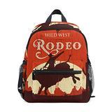 Wild West RODEO Backpack for Girl Boy Preschool School Bag Children Mini Travel Daypack Primary School Students Bookbag