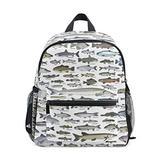 Sea Fish Pattern Backpack for Girl Boy Preschool School Bag Children Mini Travel Daypack Primary School Students Bookbag