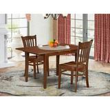 Winston Porter Rupendra 3 - Piece Extendable Rubberwood Solid Wood Dining Set Wood in Brown, Size 30.0 H in | Wayfair