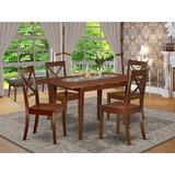 Winston Porter Devonport Rubberwood Solid Wood Dining Set Wood in Brown, Size 29.0 H in | Wayfair 7ED8FBBDBB7C416299DDDAE4779BC97C