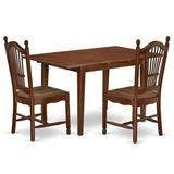 Winston Porter Madhuri 3 Piece Extendable Solid Wood Dining Set Wood in Brown, Size 30.0 H in | Wayfair DA8A244960004D8EBE7BAF3ACFD3D10D