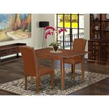 Winston Porter Skänninge 3 Piece Extendable Solid Wood Dining Set Wood/Upholstered Chairs in Brown, Size 30.0 H in | Wayfair